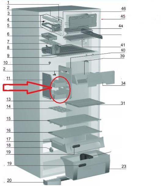 PRATELEIRA PEQUENA REFRIG.DF43-DF47-DF48-DF50-DFN50-DF48X