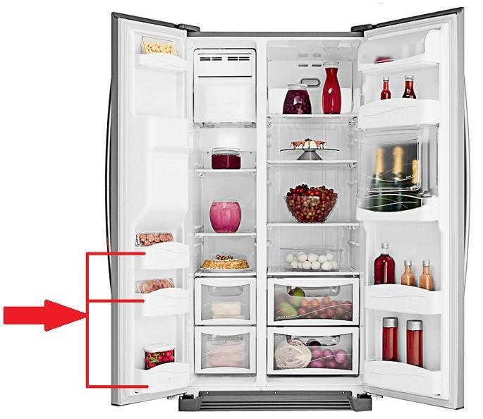 Prateleira Porta Freezer Side By Side SH72B SH72X SS72X SH70X
