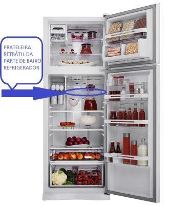 Prateleira Retrátil Refrigerador Electrolux Df51 Df52 Dfn52