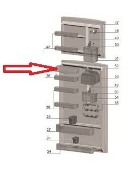 TAMPA PRATELEIRA MEDIA REFRIGERADOR ELECTROLUX DF46 - DF47 - DF50 - DF50X - DFN49 - DFN50 - DFX50 - DFX49 - DF49 - DF49A