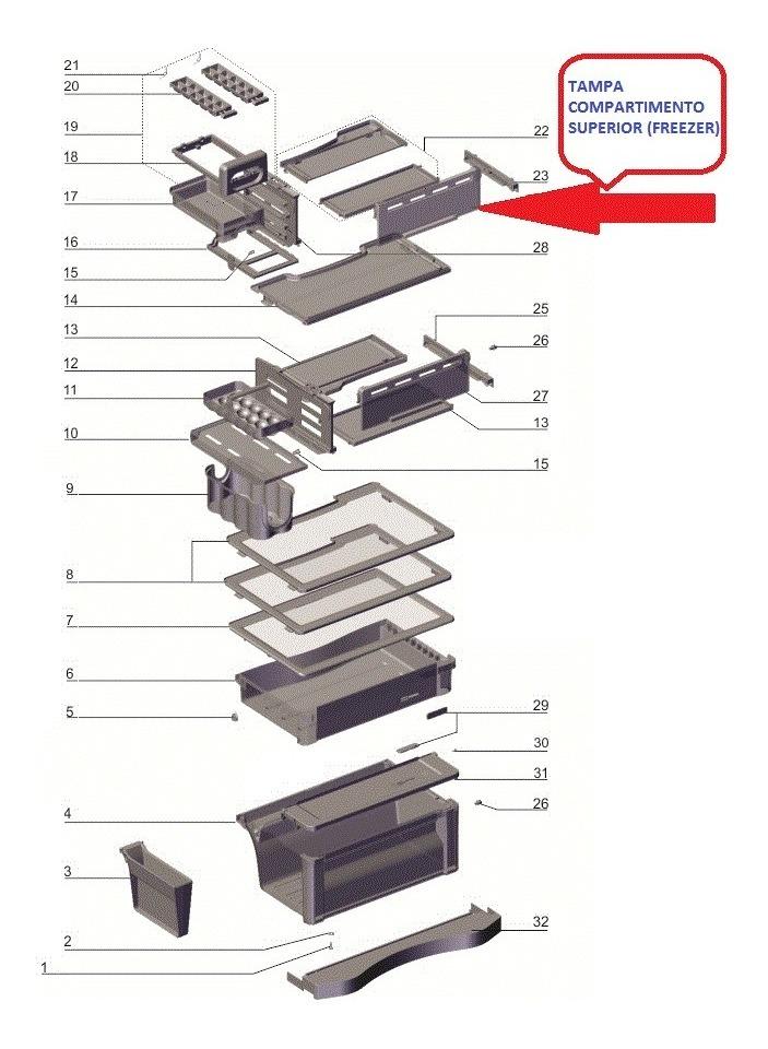 TAMPA TURBO CONGELAMENTO DF52 - DF52X - DFW52 - DF51 - DF51X - DFN52 - TF51 - TF51X - IF51 - IF51X - DF53X - IF53X - DF54 - DF54X - DF51X - TF52X - TF52 - DW54X - DW52X
