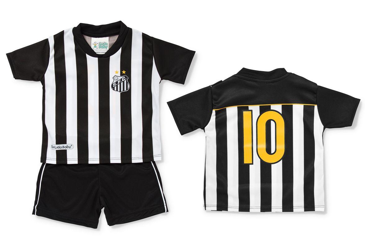 4431d0027d717 Conjunto Santos Camisa e Shorts Torcida Baby Oficial - Loja Gaby