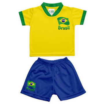 Uniforme da Seleção - Camisa e Calção BRASIL - Copa do Mundo - Torcida Baby  - Loja Gaby a6914e742f5e8