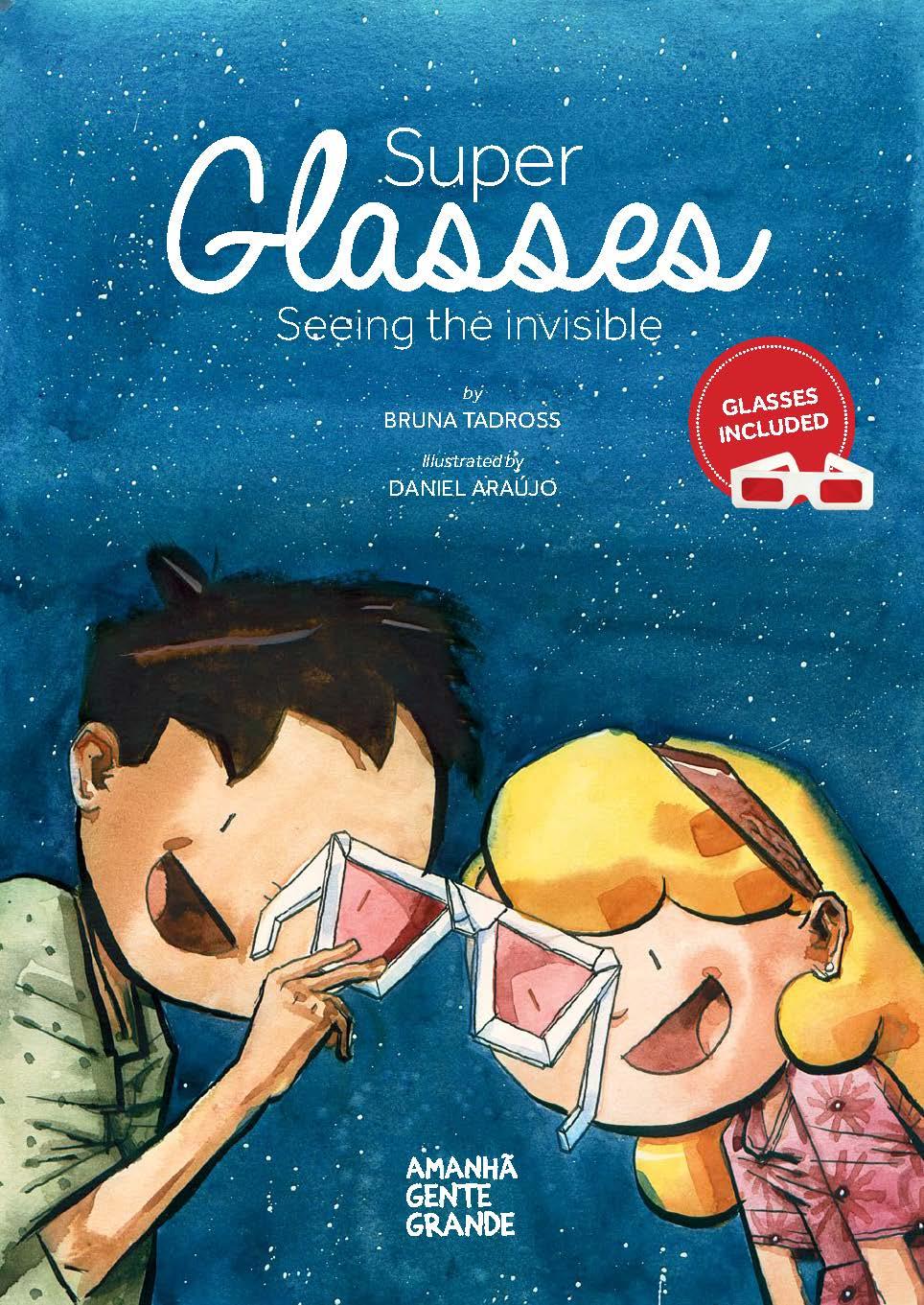 """Super Glasses: seeing the invisible  (livro em inglês + """"óculos do invisível"""")"""