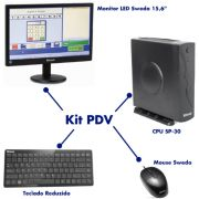 PDV Sweda CPU SP30 + Mouse + Teclado Reduzido + Monitor LED
