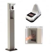 Totem dispenser de álcool gel automatizado com termômetro
