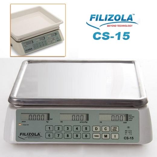 Balança de Bancada Filizola CS 15 kg x 5 g - Computadora