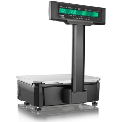 Balança Etiquetadora Elgin SM-100P Com Torre - Computadora