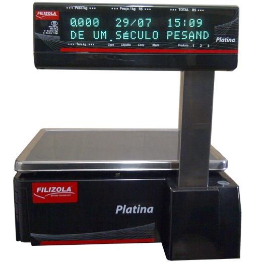 Balança Etiquetadora Filizola Platina PLUS - 15kg ou 30 kg