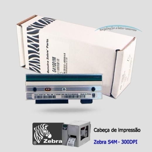 """Cabeça de Impressão Zebra S4M (300dpi - 4"""")"""