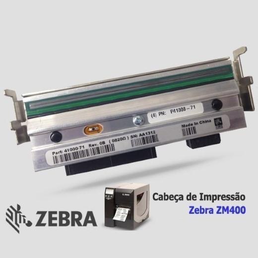 """Cabeça de Impressão Zebra ZM 400 (600dpi - 4.09"""")"""