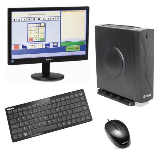 PDV Sweda CPU SP30 + Mouse + Teclado Reduzido + Monitor LED