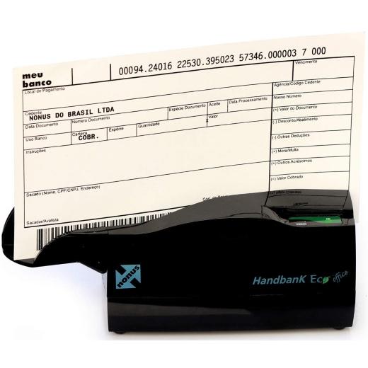 Leitor de Boletos e Cheques Nonus - Handbank Eco 10 (Semiautomático)