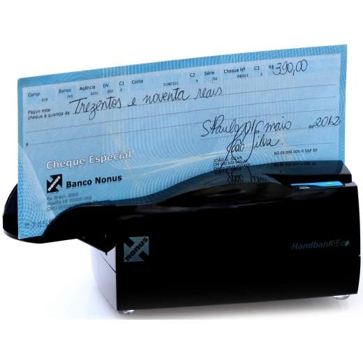 Leitor de Boletos e Cheques Nonus Handbank Executive 10 - Semiautomático