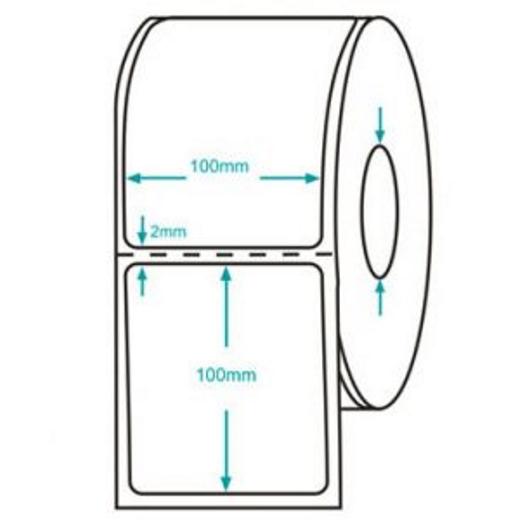 Rolo de Etiqueta Adesiva - Medida 100 x 100mm