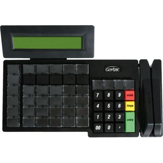 Teclado Programável Gertec TEC 55 - Com Display (Conexão PS2 ou USB)