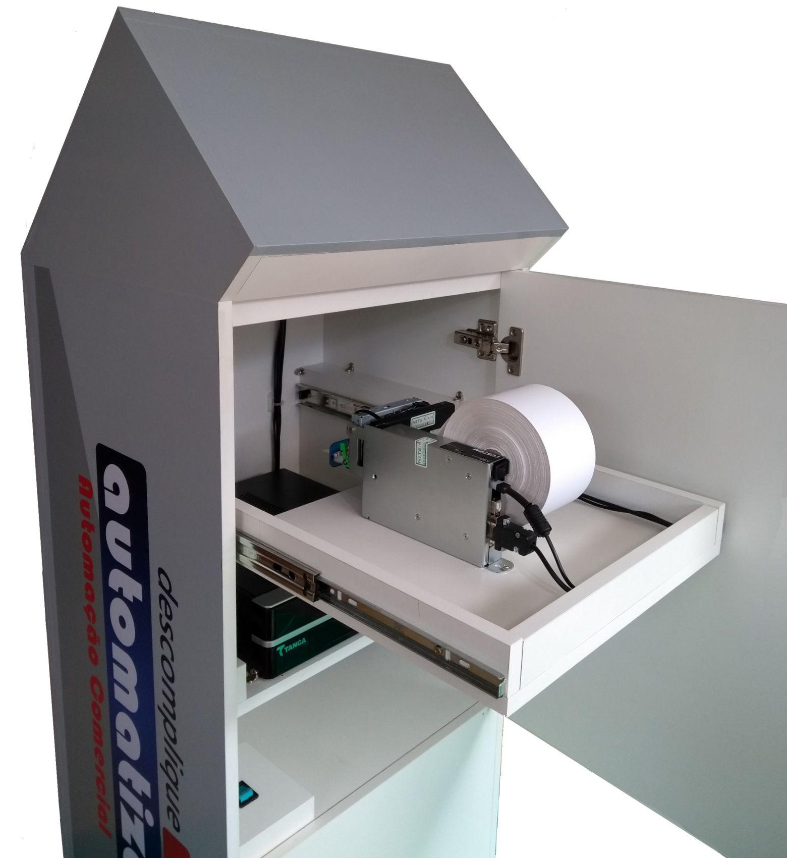 Terminal de Auto Atendimento Totem Touch Screen com Impressor