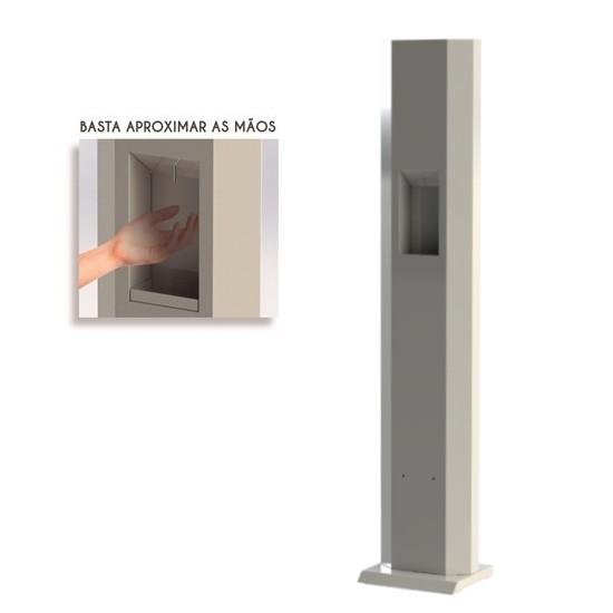 Totem dispenser de álcool gel com sensor
