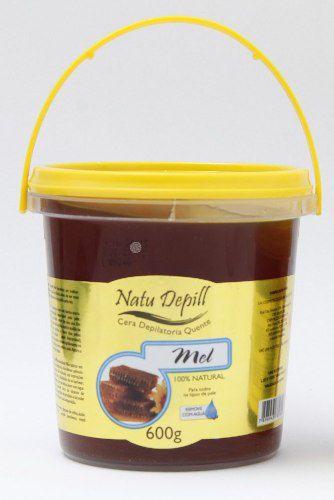 Kit C/4 Cera Depilatória Quente Natu Depill 600g Natural Mel