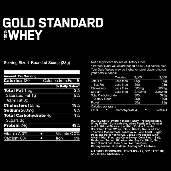 Gold Standard Optimum Nutrition 909g