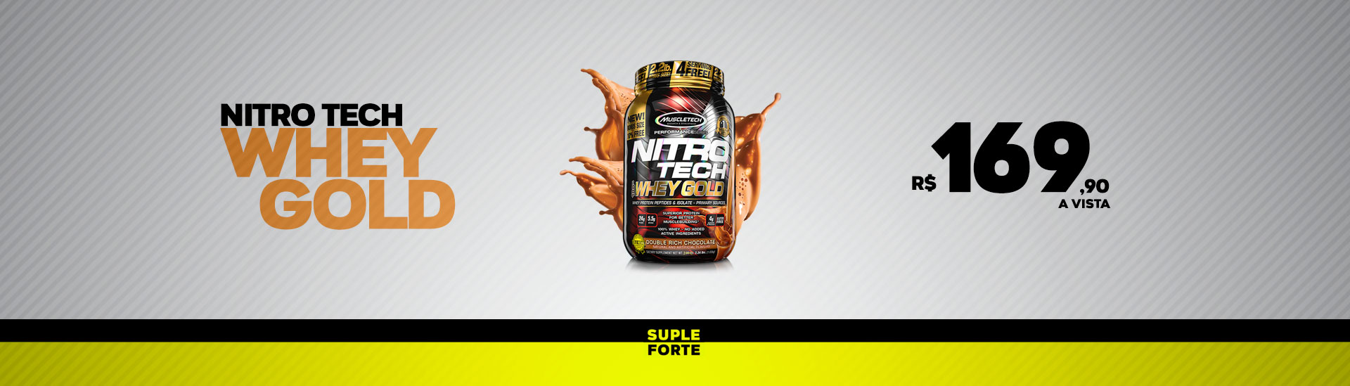 Oferta Nitro Tech Whey Gold!!!