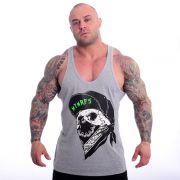 Camiseta Regata Cavada Academia - MTMRFS Skull Bandit