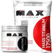 Combo Hipercalorico 3kg + Creatina Max Titanium