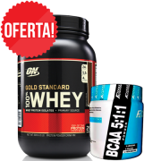 Kit 100% Whey Gold ON (909g) + BCAA 5:1:1 FitFast (170g)