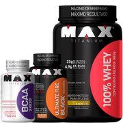 Kit Emagrecer e Definir - Max Titanium