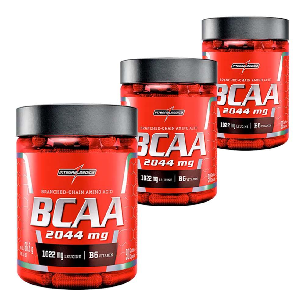 3x BCAA 2044 mg - 90 Cápsulas
