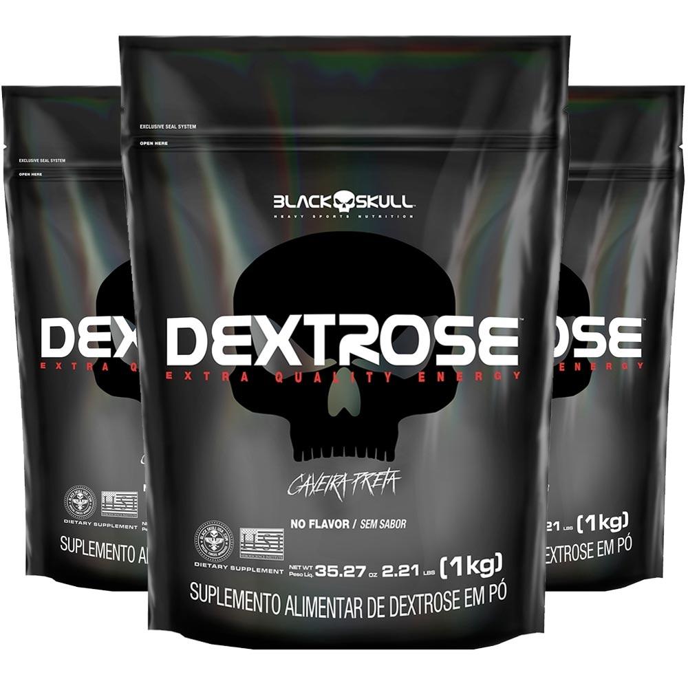 3x Dextrose Black Skull 1Kg