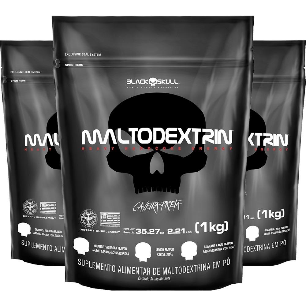 3x Maltodextrina Black Skull 1Kg