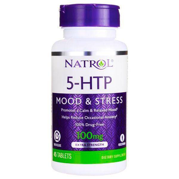5-HTP 100mg Natrol 45 Cápsulas