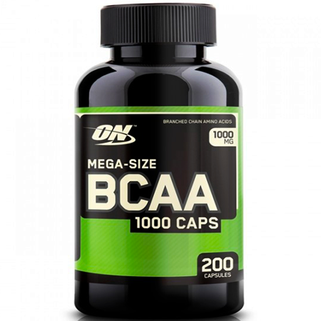 BCAA 1000 Mega Size (200 Cápsulas)