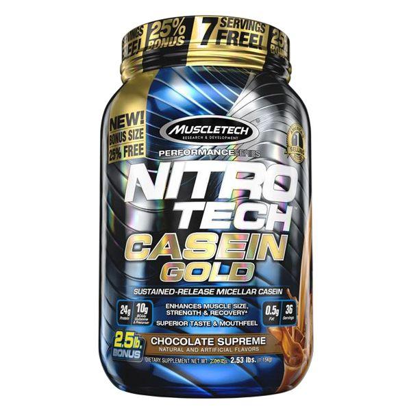 Caseina Gold Nitro Tech Importada (1,15kg)