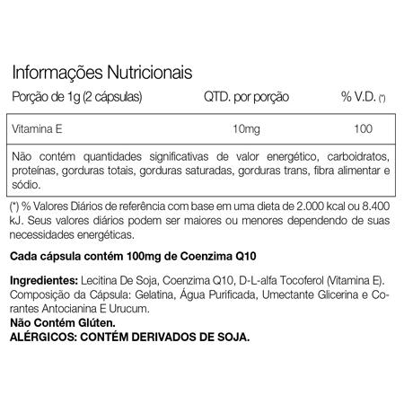 Coenzima COQ-10 (60 Cápsulas)