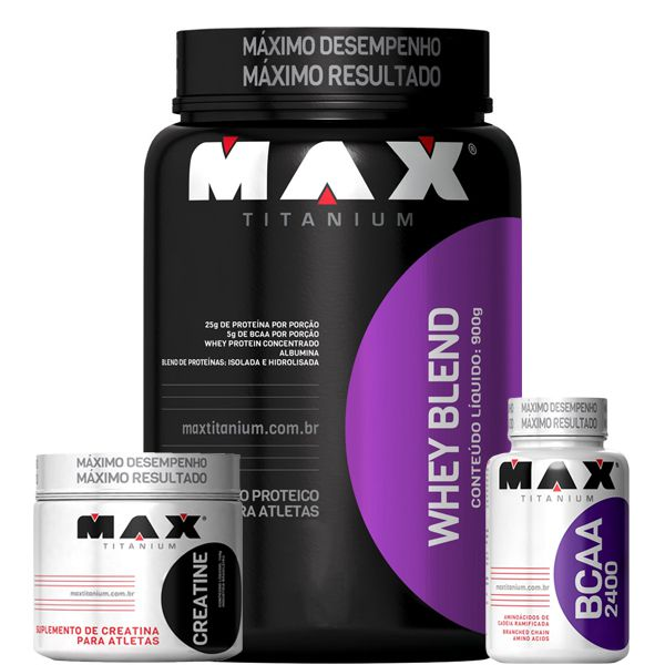 Combo Crescimento Muscular Max Titanium