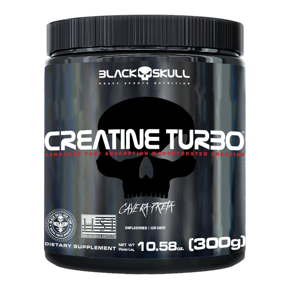 Creatina Turbo - Caveira Preta - Black Skull