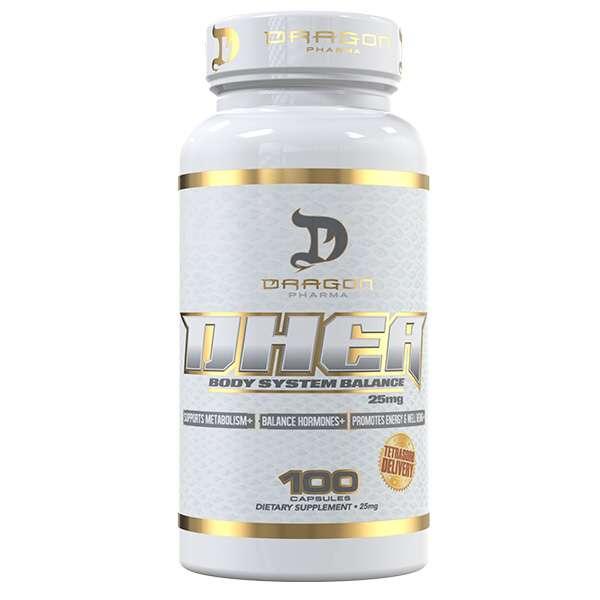 DHEA 25mg Dragon Pharma 100 Cápsulas