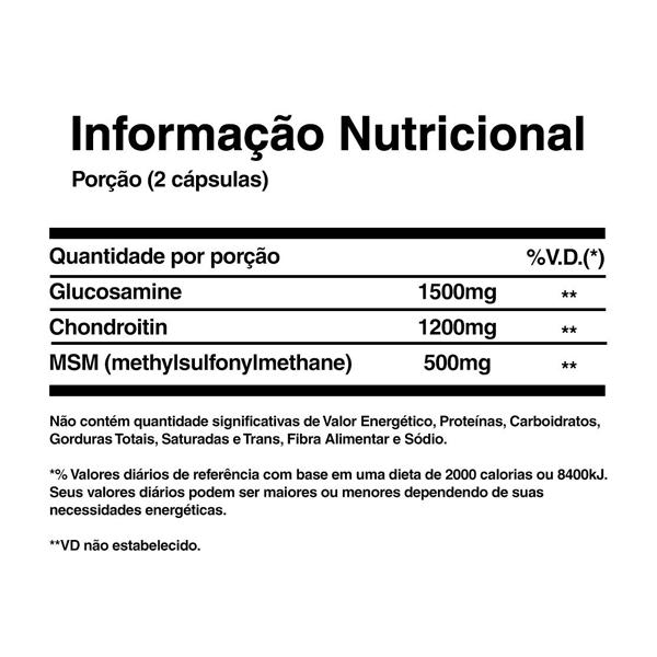 Glucosamina Condroitina MSM 60 Tabletes - Glucosamine Chondroitin