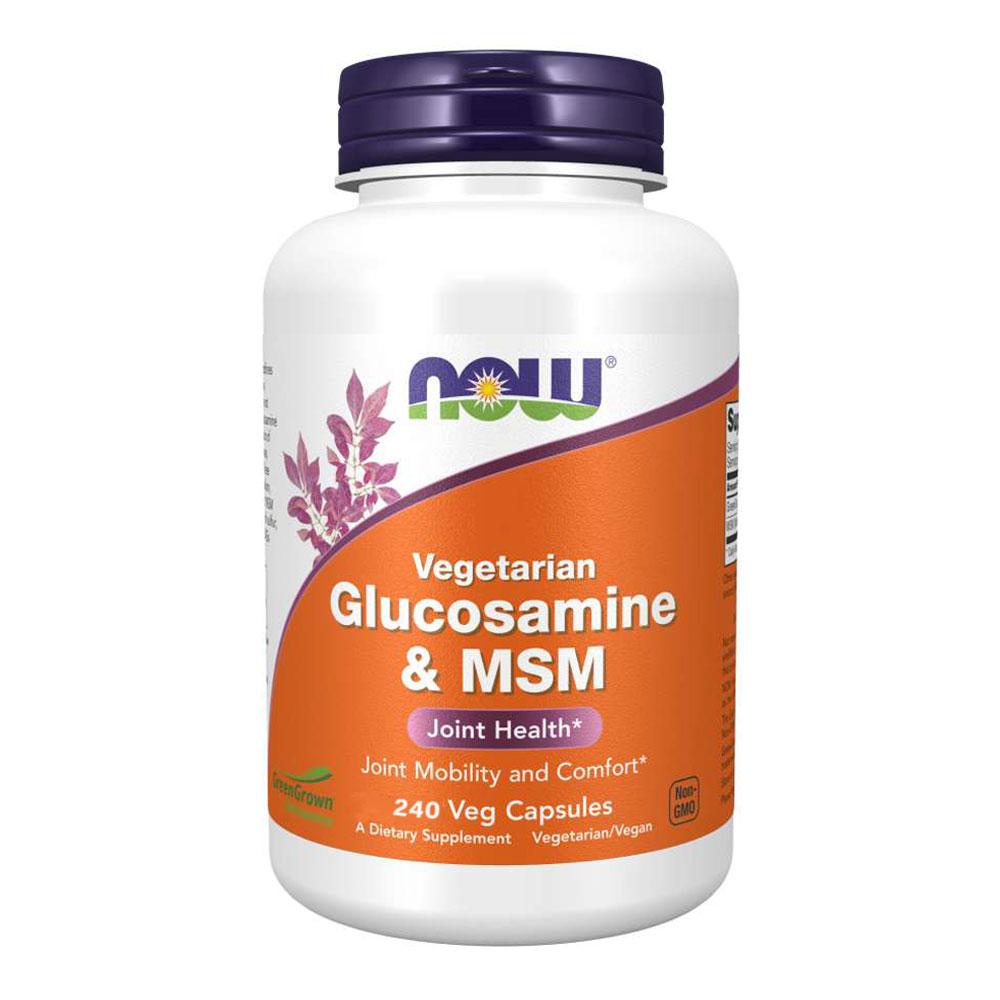 Glucosamina Vegana com MSM (240 caps) - Now Foods