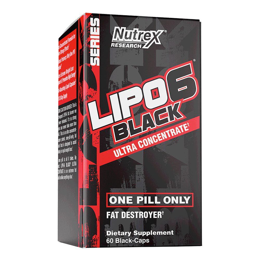 Lipo 6 Black Importado (60 Cápsulas) - Nutrex