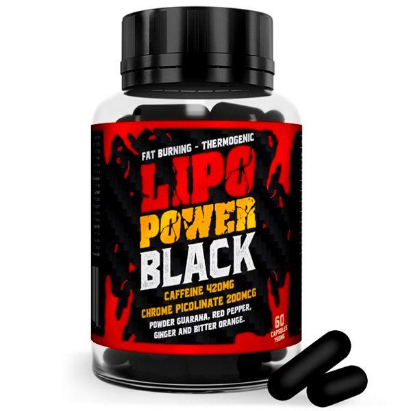 Lipo Power Black Termogênico Emagrecedor 60 Cápsulas