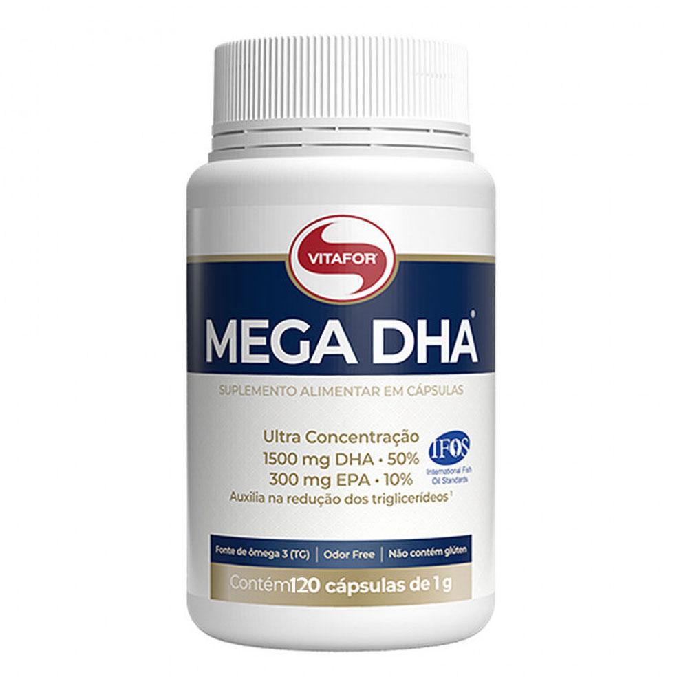 Mega DHA Omega 3 Super Concentrado  (60 Cápsulas) - Vitafor
