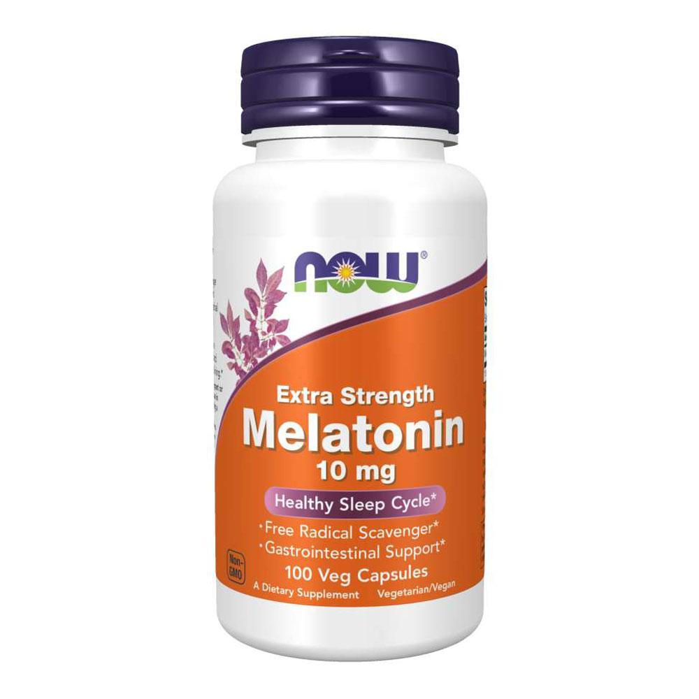 Melatonina 10mg - Extra Forte (100 Cápsulas) - Now Foods