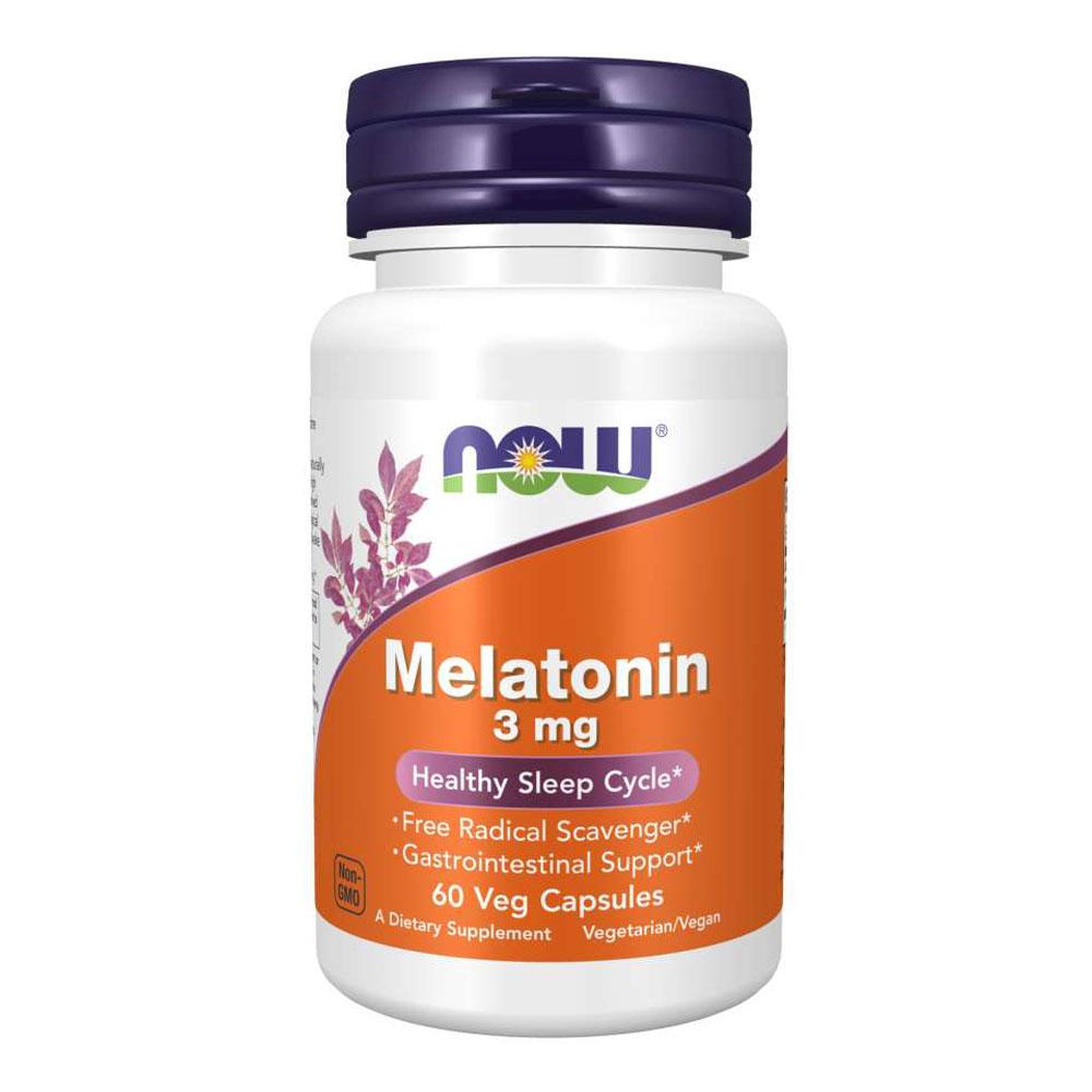 Melatonina 3mg Importada (60 Cápsulas) - Now Foods