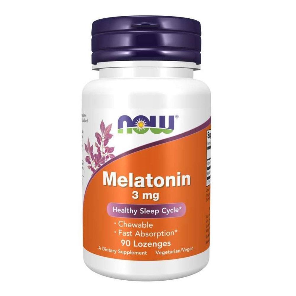 Melatonina 3mg Importada (90 Tabletes Lozenges) - Now Foods