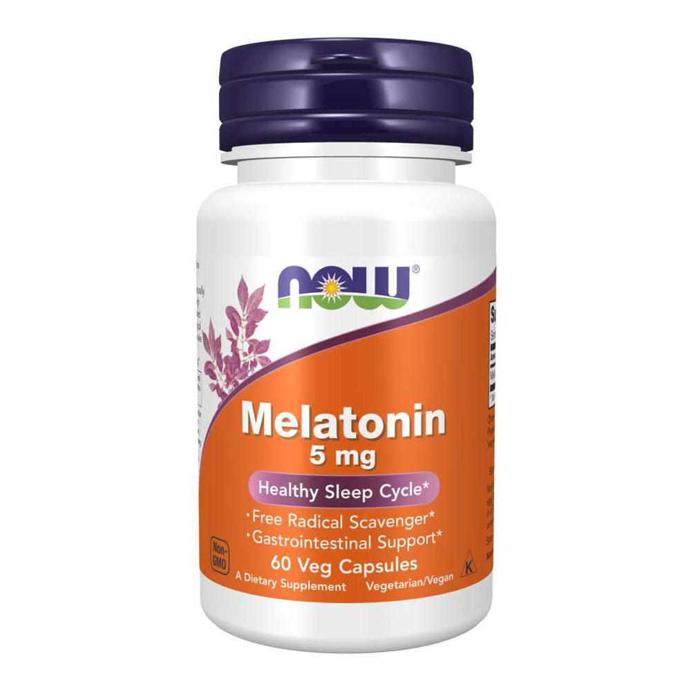 Melatonina 5mg Importada (60 Cápsulas) - Now Foods