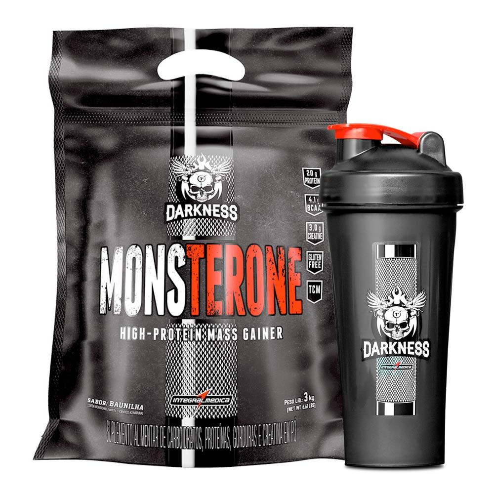 Monsterone Hipercalórico 3kg + Coqueteleira