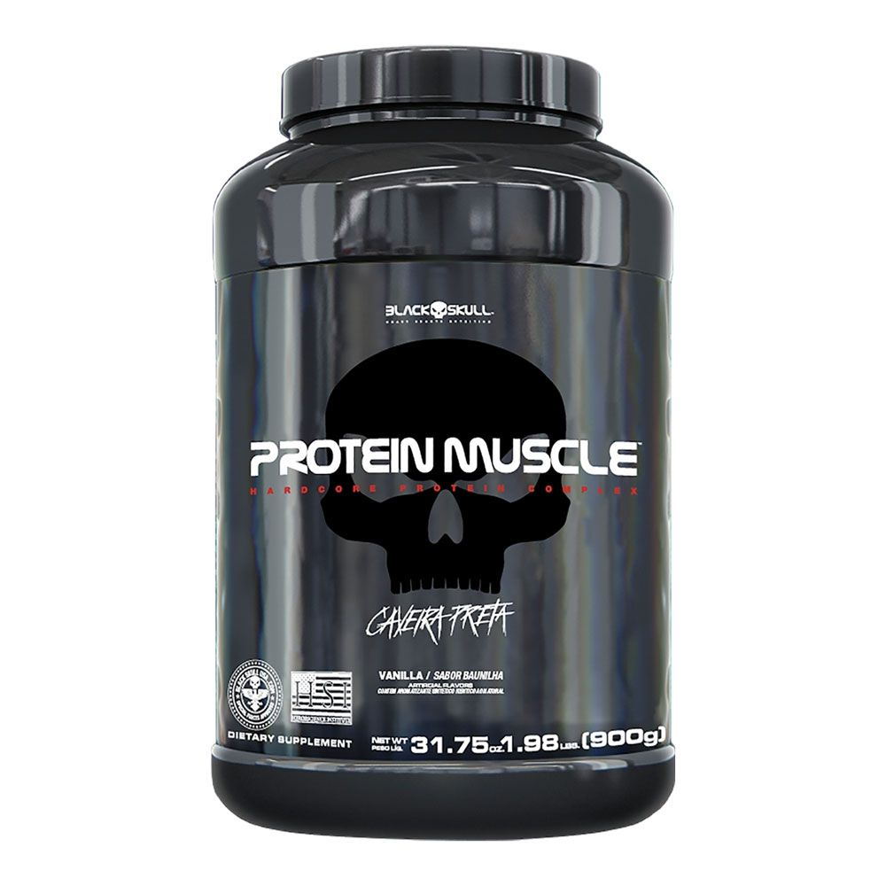 Protein Muscle - Black Skull